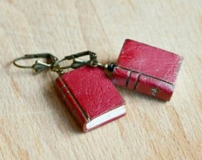 book earrings 2