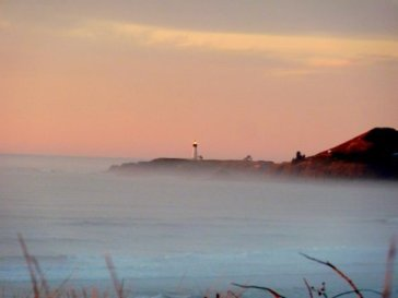 Oct. Evening mist Yaquina Light
