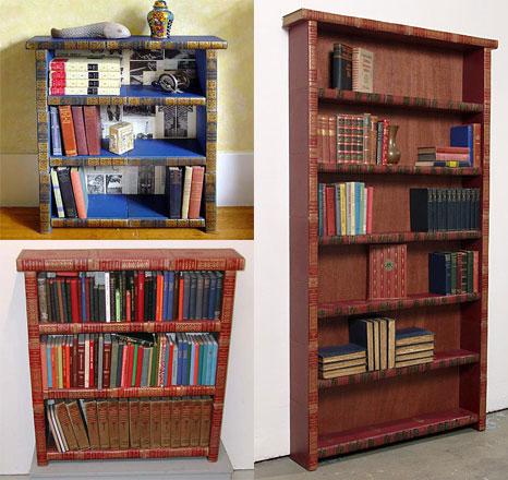 bookshelf made of books 1