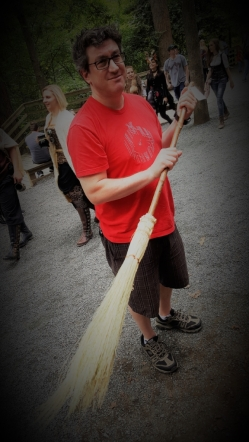 Neal with broom