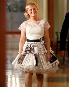 leslie knope wedding dress