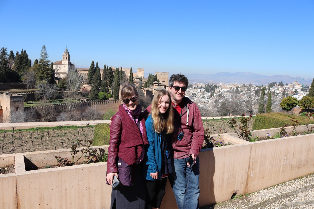 Sleepy Hollow at the Mystical Ancient Palace of the Alhambra in Granada, Spain