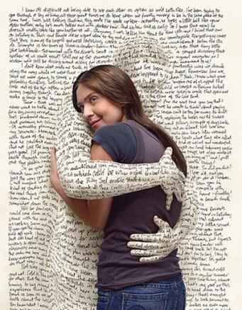 book hugging