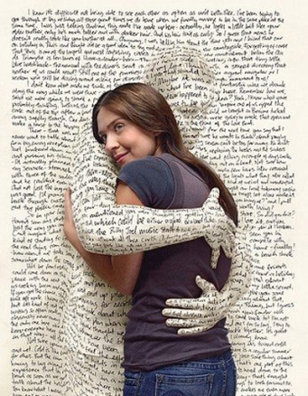 book hugging