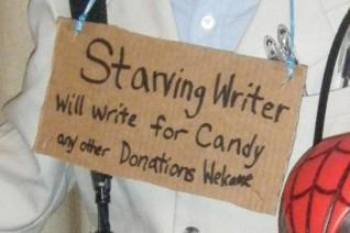 starving writer