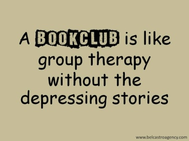 book club is like group therapy