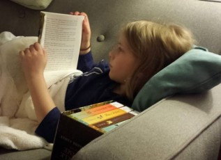E reading Wrinkle in time age 7