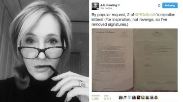 JK Rowling rejection