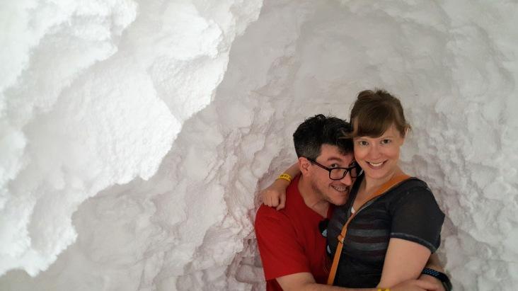 styrofoam cave fun house