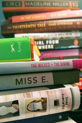 bedside book tower