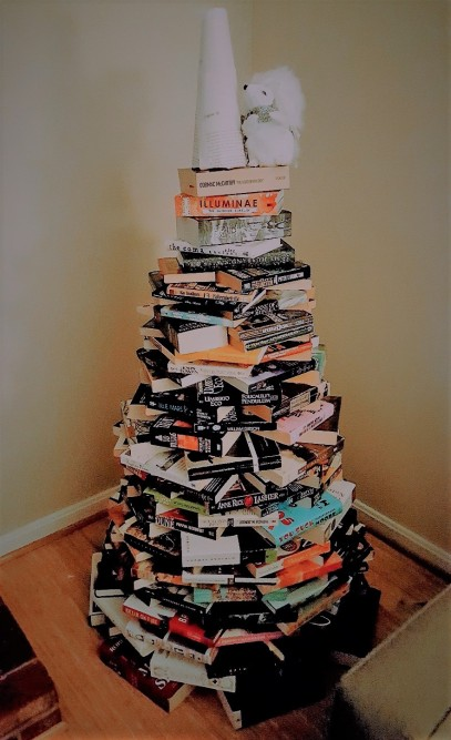 bookmas tree 2018 pre decorations