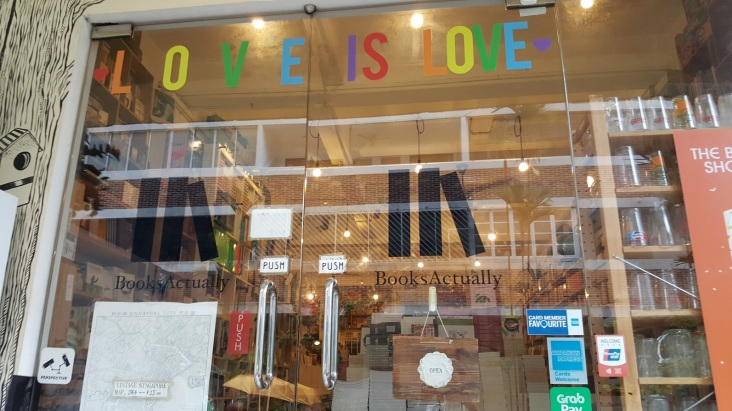 booksactually bookstore window singapore